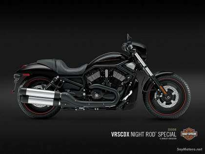 Harley Davidson Night Rod® Special - Vivid Black y Pewter Pearl