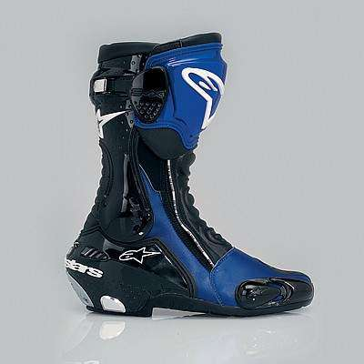Alpinestar S-MX Plus - Azul y negra, vista lateral