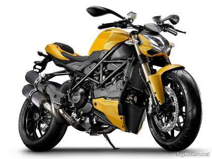 Ducati Streetfighter 848 2012, color amarillo Ducati