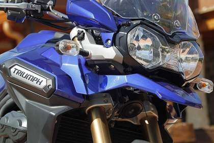 Frontal de la Triumph Tiger Explorer ABS 2012