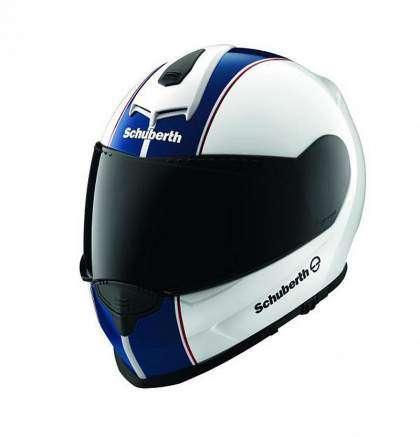 Casco Shuberth S2 azul y blanco