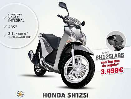 Top Box de 35L de regalo en el Honda Scoopy SH125i ABS