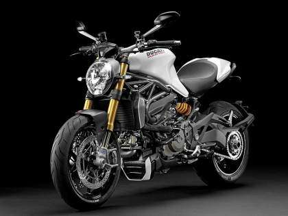 La nueva Ducati Monster 1200 2014 en color blanco.