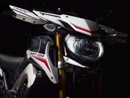 Frontal de la Yamaha MT-09 Rally 2014