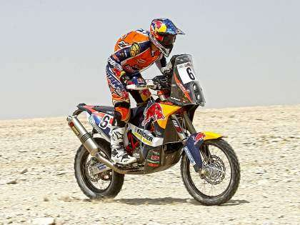 Sam Sunderland vence la segunda etapa del Sealine Cross-Country Rally 2014.
