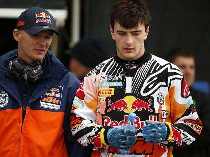 Jeffrey Herlings, junto a Stefan Everts.