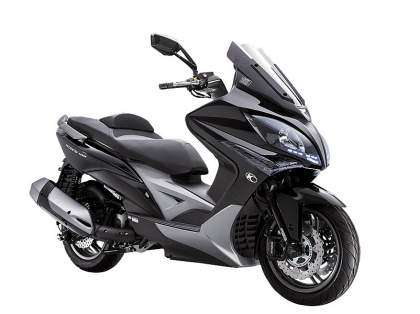 Kymco Xciting 400 ABS perfil derecho negro