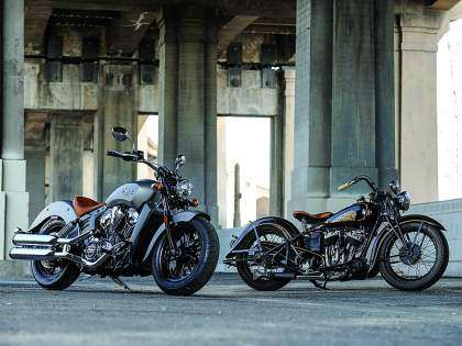 La Indian Scout 2015 y su antecesora