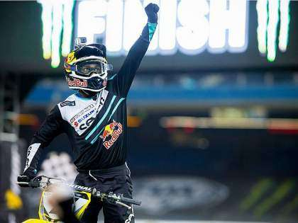 james Stewart, en el AMA Supercross 2014.