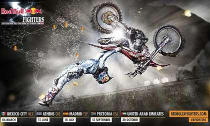 Calendario del Red Bull X-Fighters 2015.