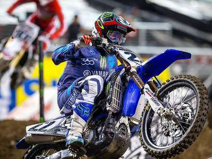 Chad Reed en el AMA Supercross 2016.