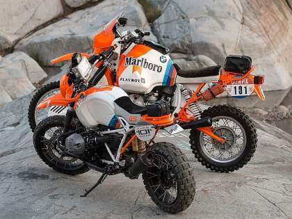 BMW R80GS Dakar '85 y Concept Lac Rose