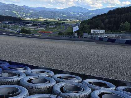 La escapatoria de la curva 2 del Red Bull Ring