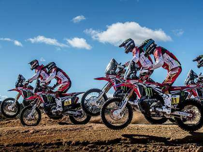 Monster Energy Honda Team.