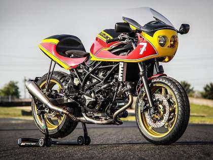 Suzuki SV650 tributo a Barry Sheene