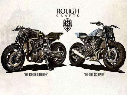 "Yamaha XSR700 ""Double-style"" por Rough Crafts"