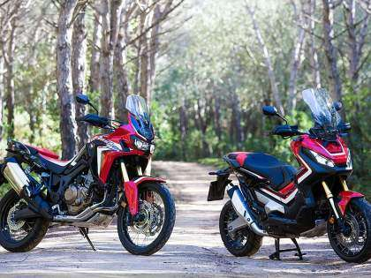 Africa Twin y X-ADV en color Rojo Rally