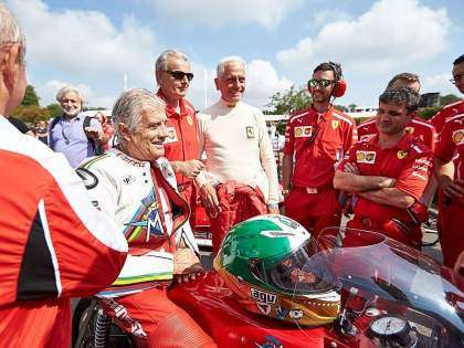 Giacomo Agostini en Goodwood