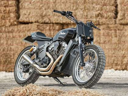 ndian Scout Flat Track por Krazy Horse
