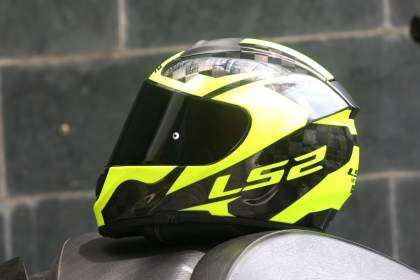 Vista lateral del casco LS2 Vector C-Evo