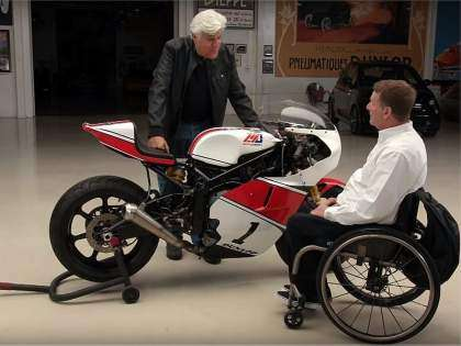 Wayne Rainey con Jay Leno