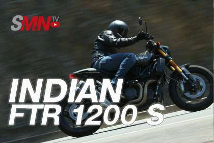 Indian FTR 1200 S en acción
