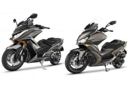 KYMCO AK 550 y Xciting S 400 marrón