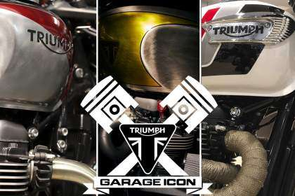 Cartel oficial Triumph Garage Icon 2020