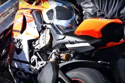 Accidente Ducati Panigale V4S