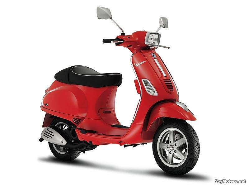 Vespa S 50 color rojo