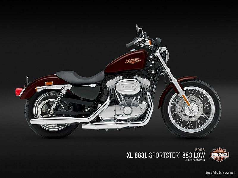 Harley Davidson 883 Low - XL 883L - Crimson Red Sunglo