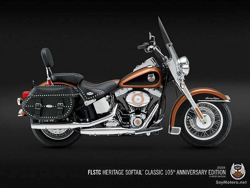 Harley Davidson Heritage Softail® Classic - 105th Anniversary Copper Pearl/Vivid Black
