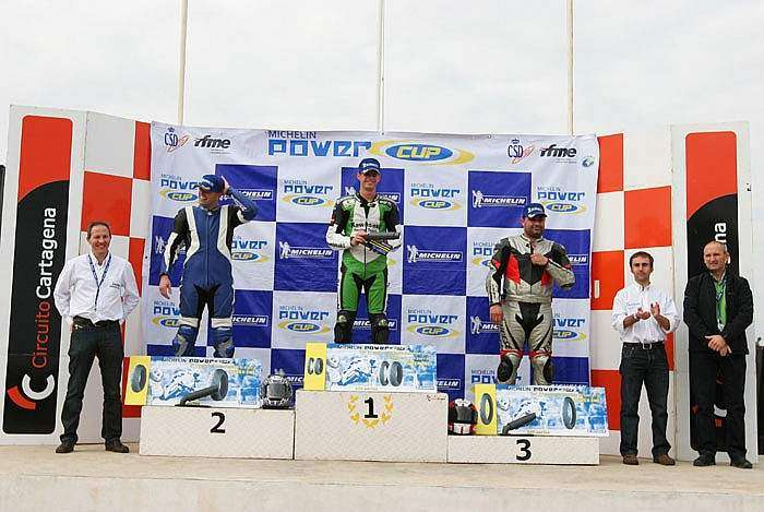 Michelin Power Cup 2009 - Podio Cartagena 1000cc: Puroy, Ibánez y Oliva