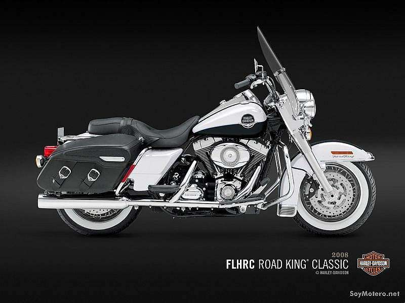 Harley Davidson Road King® Classic - White Gold Pearl y Black Pearl