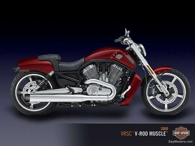 Harley Davidson V-Rod® Muscle™ 2009 - Color Red Hot Sunglo