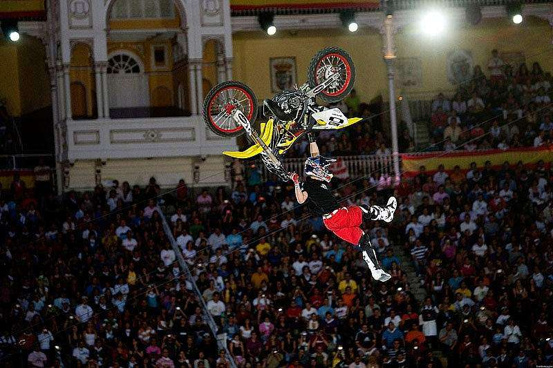 Thomas Pages en el Red Bull X-Fighters 2009 de Las Ventas (Madrid)