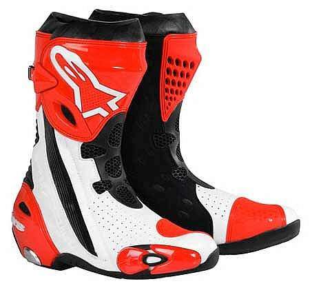 Alpinestar Supertech R - Color Blanco y rojo