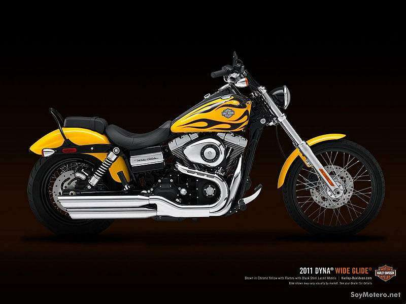 Harley-Davidson Wide Glide 2011 - Chrome Yellow with Flames