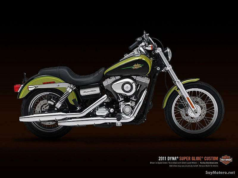 Harley-Davidson Super Glide Custom 2011 - Apple Green y Vivid Black