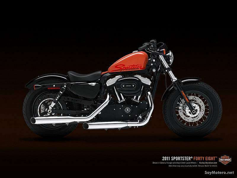 Harley-Davidson Forty-Eight 2011 - sedona orange con vivid black steel laced wheels