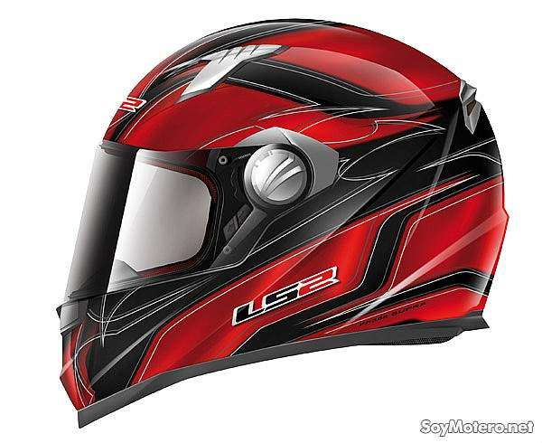Casco integral moto LS2 FF358 Supra color rojo