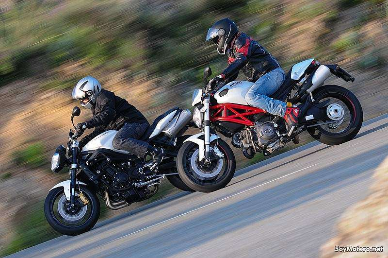 Comparativa Ducati Monster 796 vs Triumph Street Triple R: pura magia