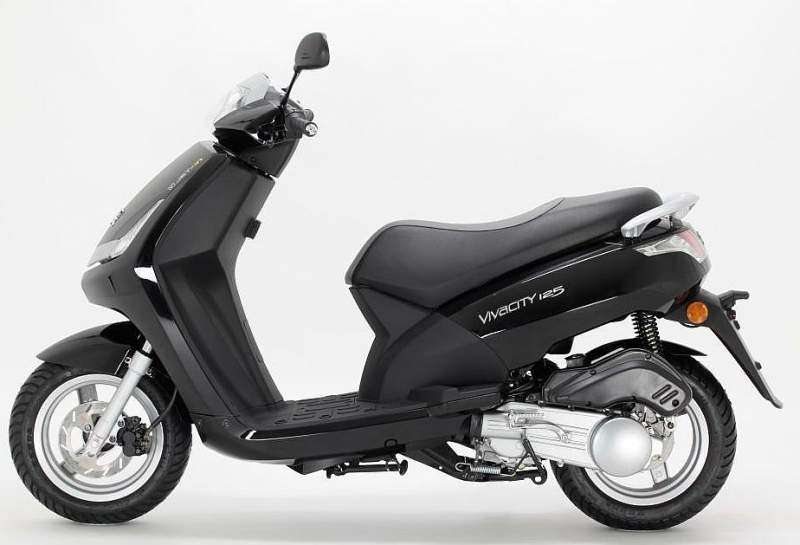 Peugeot New vivacity 125 negro lateral