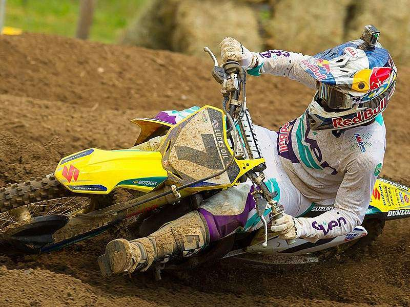 James Stewart en el AMA Motocross 2014.
