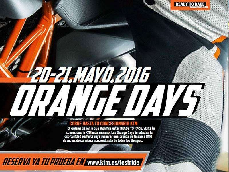 Cartel oficial de los KTM Orange Days 2016
