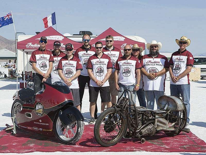 "La Indian Scout ""Spirit of Munro"" vuelve a Boneville"