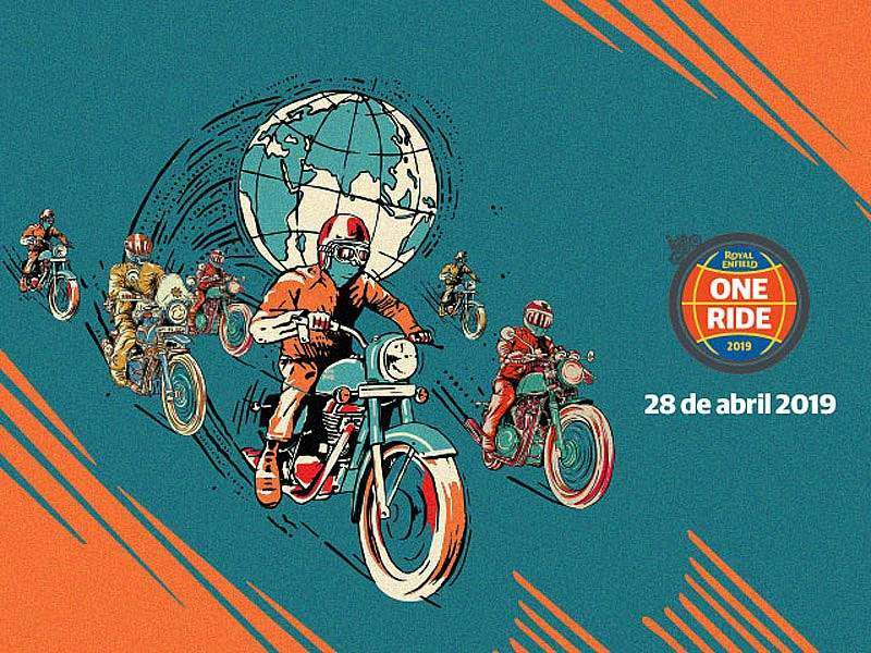 Cartel oficial Royal Enfield One Ride 2019