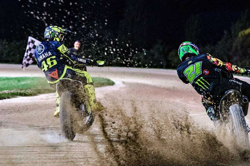 Rossi y Morbidelli en el VR46 Ranch