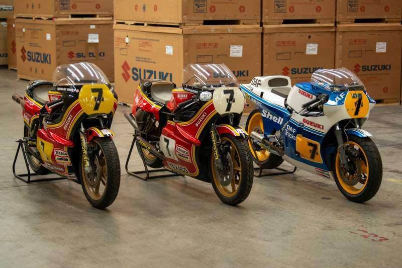 Tres ex motos de Barry Sheene