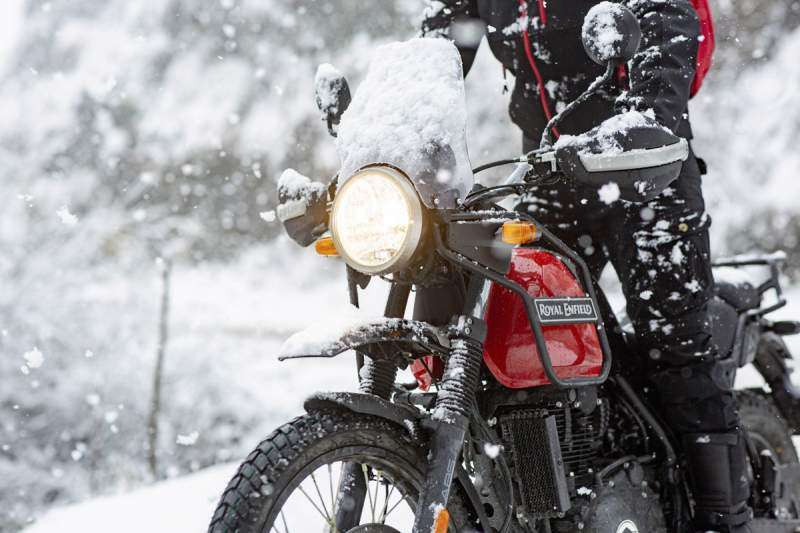 Frontal de la Royal Enfield Himalayan Rock Red 2020